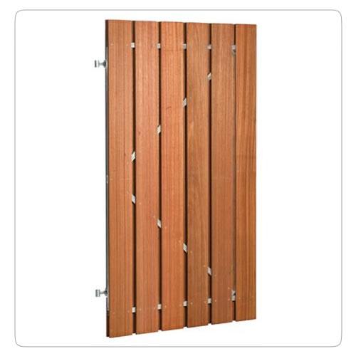 Hardhouten deur