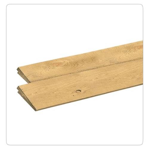 Planken en rabatdelen